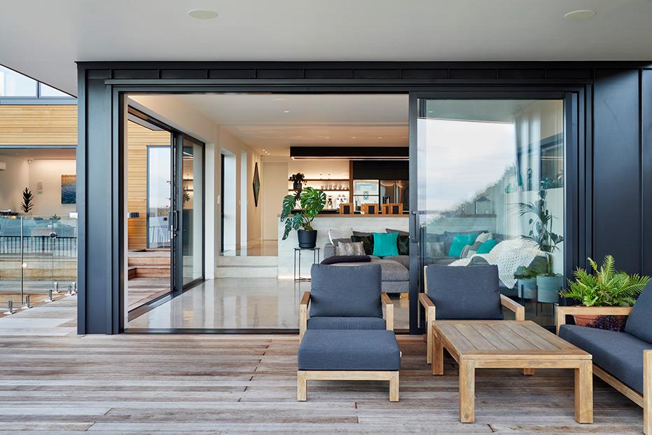 Indoor outdoor lighting flow