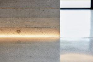 In ground concrete floor lighting