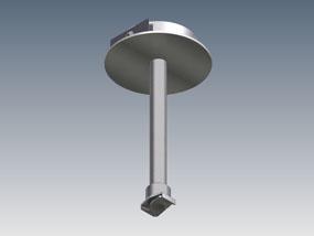 Recessed rod suspension kit