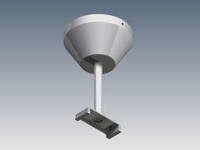 Surface mounted rod suspension kit