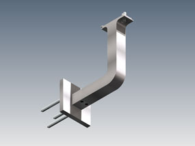 Wall bracket with square cover