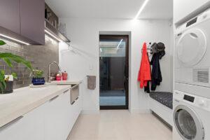 Laundry lighting by Liv Light