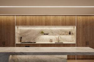 Kitchen alcove lighting by Liv Light